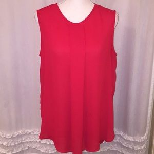 Vince Camuto Red Sleeveless Blouse